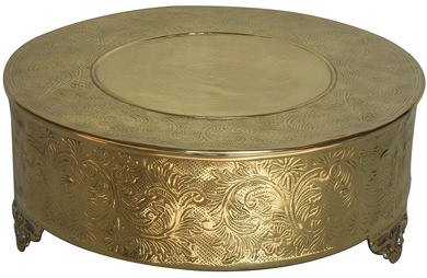 14 inch round gold cake stand