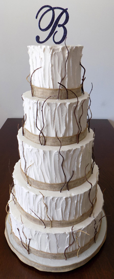 5 Tier rustic themed wedding cakes. Wedding Cakes Windsor PA