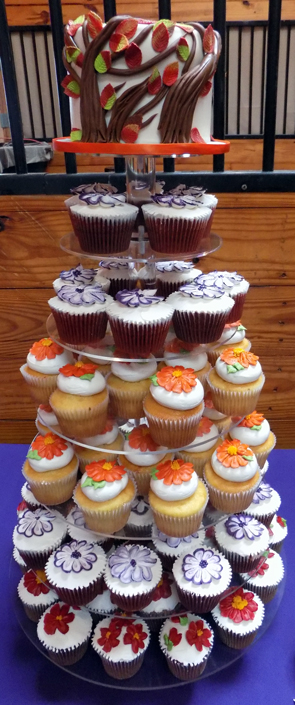 Fall themed cake and cupcakes delivered at Acorn Meadows Thomasville PA