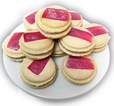 Fremch macarons with raspberry filling