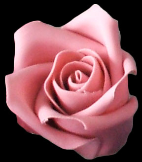 Small dusty pink gumpaste rose
