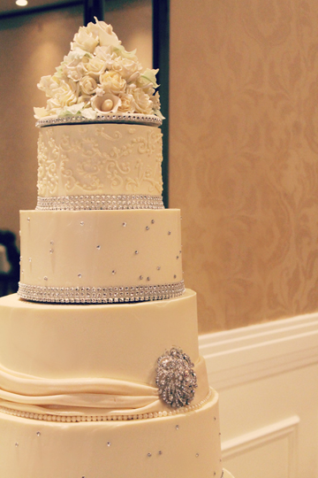 A picture of a tiered buttercream wedding cake - wedding cakes York PA - wedding cakes Harrisburg PA - wedding cakes Lancaster PA